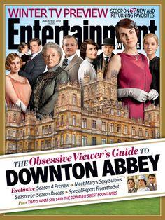 """La revista """"Entertainment Weekly"""" le dedica su portada a la 4ta temporada de la serie de TV """"Downton Abbey""""."""