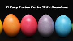 What better way to celebrate the Easter season than to create some easy Easter crafts with grandma (and then go looking for the Easter Bunny!
