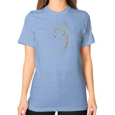 City Grid Unisex T-Shirt (on woman)