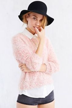 Kimchi Blue Fuzzy Dot Sweater