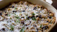 Tortino di riso gratinato ai funghi freschi