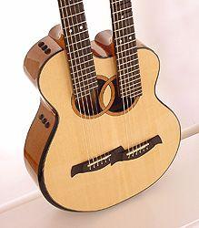 Paul Woolson Double neck guitar made for Scott Stenten 2010