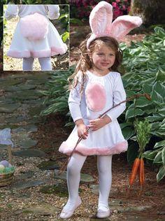 Cute bunny costume.