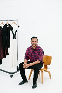 """Understated, casual, comfortable confidence"". Ryan Lobo of fashion label Tome picks the Eames® LCW for his Chat in a Chair over on Arent and Pyke's blog. http://inoutdesignblog.com/chat-in-a-chair-ryan-lobo/?utm_content=buffer2cb50&utm_medium=social&utm_source=pinterest.com&utm_campaign=buffer"