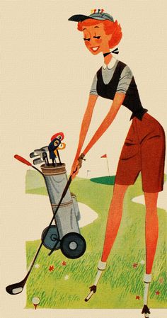 Teeing Off for a happy Saturday!... #golf #art