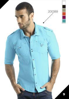 Ref: 200389 Ropa de moda para hombre / Mens fashion clothing Tailored Shirts, Casual Shirts For Men, Men Casual, Plain Shirts, Boys Shirts, Big Size Dress, Men Street, Summer Shirts, Mens Clothing Styles