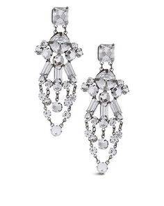 Chico's Jacelyn Crystal Chandelier Earring #chicos
