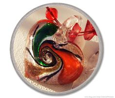 RED LAMPWORK HEART necklace $31