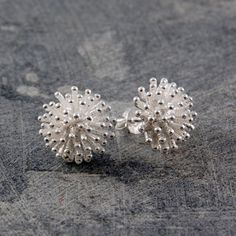 Dandelion Stud Earrings Silver, 27€, now featured on Fab. New Studs! #Candicesbirthdaywishlist