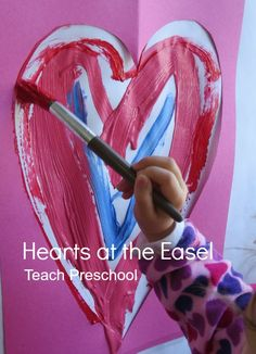 Hearts at the Easel by Teach Preschool
