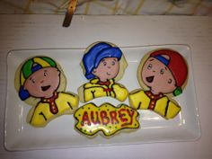 Caillou Character Cookies | Cookie Connection