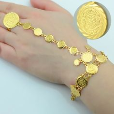 Gold Jewelry For Sale, Buy Gold And Silver, Islam, Coin Bracelet, Charm Bracelets, Coin Jewelry, Gold Jewellery Design, Earring Set, Jewels