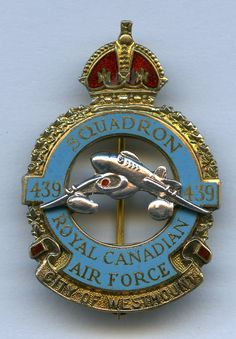 RCAF - 439 Squadron (Kings Crown) - City of Westmount