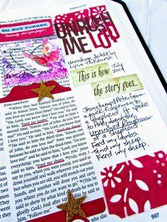 Unrush Me - Bonita Rose Bible Journaling Bible Love, Faith Bible, Scripture Art, Bible Art, Bible Study Journal, Scripture Journal, Art Journaling, Prayer Scriptures, Bible Verses