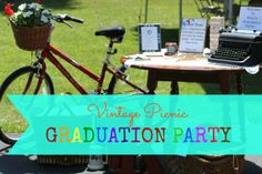 My daughter's graduation party  our life in a click: {Entertaining} Vintage Picnic Graduation Party