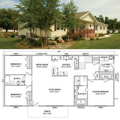 Jamestown IV Wardcraft Homes Sims House Plans, New House Plans, House Floor Plans, Second Mortgage, Mortgage Tips, Building Plans, Building A House, Country Style House Plans, Pole Barn Homes