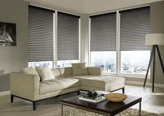 Made to measure Grey Sheer Horizon Blinds | Bolton Blinds
