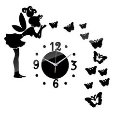 2016 Sale Acrylic Wall Sticker Mirror Stickers Still Life Adesivo De Parede Diy Home Decor Butterfly Horse Wall Clock Photo Wall Wall Clock Price, Mirror Wall Clock, Wall Clocks, Diy Mirror, Diy Wall Stickers, Mirror Wall Stickers, Wall Art Designs, Wall Design, Mirror Quartz