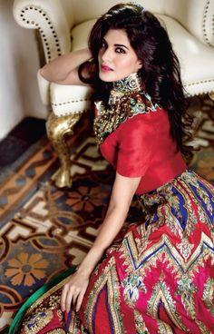 Jaqueline Fernandes during a photoshoot for Femina Magazine