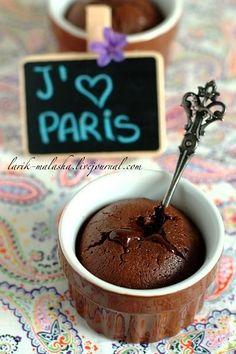 """Шоколадный фондан от парижской школы """"Ritz"""" - Foodclub — кулинарные рецепты с пошаговыми фотографиями"""