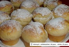 Fánk muffin Bakery Recipes, Baby Food Recipes, Sweet Recipes, Cooking Recipes, Sweet Cookies, Hungarian Recipes, Sweet And Salty, A 17, Food To Make