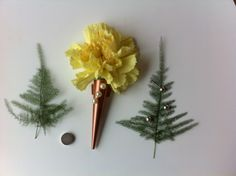 Yellow carnation and GENTLECone copper .