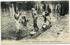 Hindu+Women+Bathing+-+Calcutta+%2528Kolkata%2529+Early+1900%2527s