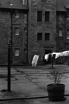 Edinburgh, Dean Village laundry...lovely Black White Photos, Black And White, Laundry Lines, Line Photography, Visit Edinburgh, Laundry Drying, Clotheslines, Women's History, Country Girls