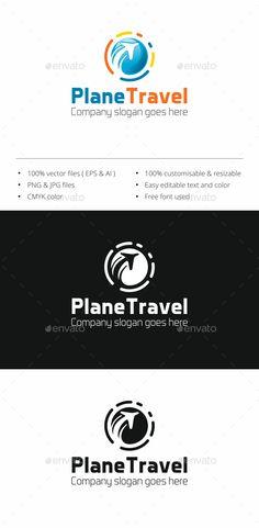 Plane Travel Logo - Objects Logo Templates Download here : http://graphicriver.net/item/plane-travel-logo/16107655?s_rank=21&ref=Al-fatih