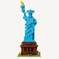 La Estatua de la Libertad en Bloques de Construcción