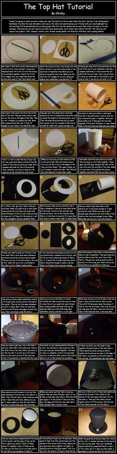 Top hat instructions- never know when one needs to know how how to make a top hat!