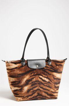 Longchamp 'Le Pliage Tigre' Large Shoulder Tote