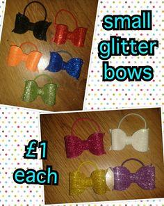 Cute iccle glitter bows