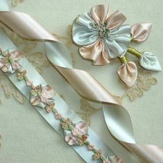 Vintage SILK Satin Double Faced Two Colored Ribbon | Vintage Passementerie