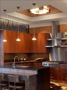 Quaker Bluff Residence   Contemporary   Kitchen   Burlington   Birdseye  Design. Ceiling ...