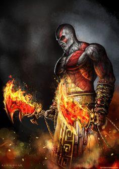 Kratos- bySam Denmark - God of War on PlaySation #GOW #GodOfWar