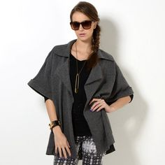Buy 'YesStyle Z – Cuffed Batwing-Sleeve Open-Front Jacket' with Free International Shipping at YesStyle.com. Browse and shop for thousands of Asian fashion items from Hong Kong and more!