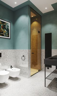 21 Bathroom Remodel Ideas [The Latest Modern Design] - Contemporary bathroom design ideas. Every bathroom remodel begins with a design concept. Contemporary Bathroom Designs, Bathroom Layout, Modern Bathroom Design, Bathroom Colors, Bathroom Interior Design, Small Bathroom, Bathroom Ideas, Contemporary Design, Boho Bathroom