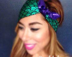 The Little Mermaid/Ariel inspired Headband Rockabilly Turban