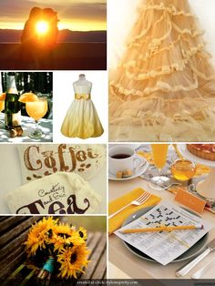 Good Morning Sunshine. one of obsessions is brunch and I love everything from the sunflowers to the ruffles to the coffee and mimosas to the sunday crossword.
