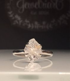 A personal favorite from my Etsy shop https://www.etsy.com/listing/514135884/raw-herkimer-diamond-ringgorgeous-rough