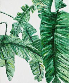 """Saatchi Art Artist Ildiko Olah; Painting, """"Banana Leaves"""" #art"""
