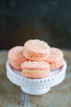 Peach Cobbler Macarons