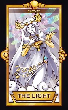 Palutena, The Light card ============================= For more Super Smash Tarot Cards, pleasethis deck for updates!  ==============================