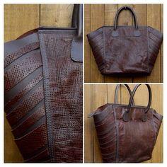 Bolsa com dois padrões couro