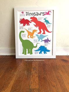 Dinosaur Nursery Art for boys Dinosaur Poster