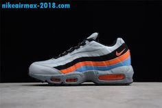 finest selection 17408 f2757 New Mens Nike Air Max 95 PRM Gray Black Orange Blue 538416-015