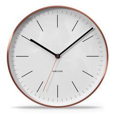 Karlsson Uhren elegante designuhr mit kupfernem rahmen minimal schwarz karlsson