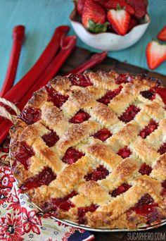 Strawberry Rhubarb Pie!!