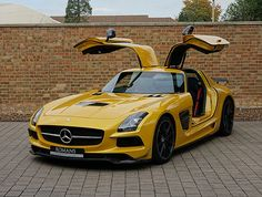 Romans are pleased to offer this Mercedes-Benz SLS AMG Black Series for sale presented in AMG Solar Beam Yellow with Black Leather & Alcantara. Ferrari F40, Lamborghini Gallardo, Mercedes Sls, Austin Cars, Best Luxury Cars, Solar, Sport Cars, Dream Cars, Luxury Cars